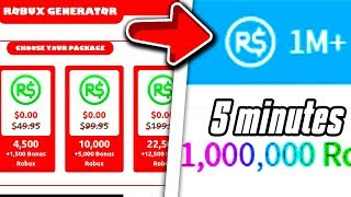 NEW Robux Generator 2020 GIVES Free Robux (Robux Generator Gives 1 Million Robux) l Roblox l