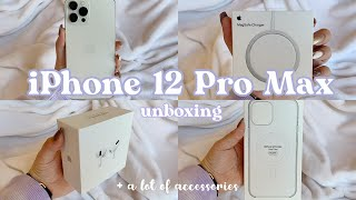 NEW 🍎 iPhone 12 Pro Max + MagSafe + Airpods Pro + Accessories Unboxing