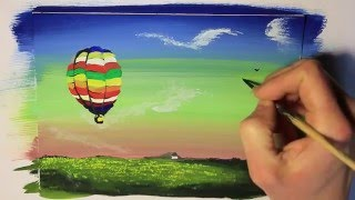 """Видео урок """"Рисуем  воздушный шар """" / How to draw a balloon"""