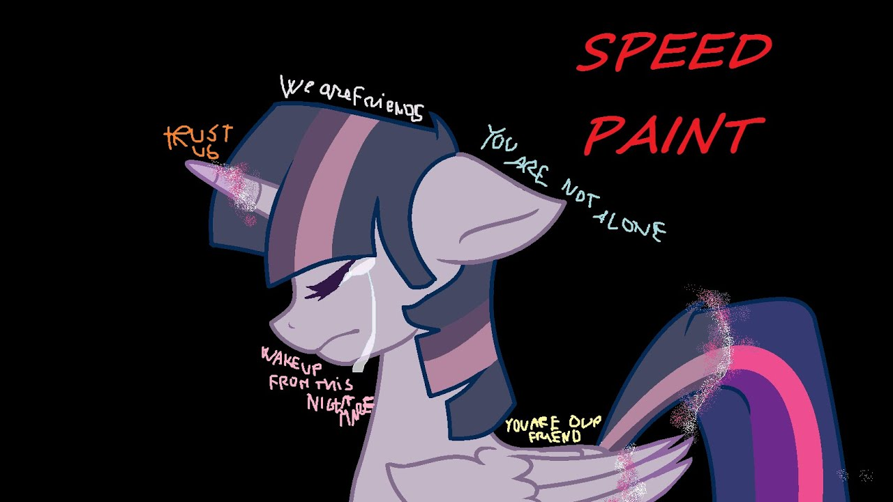 (speedpaint)MLP Twilight- Wispers (MSPaint)