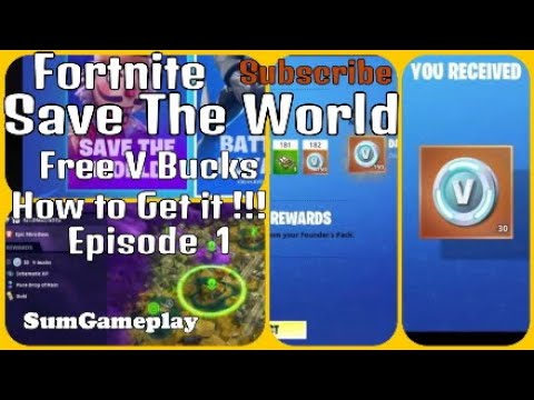 How to Get Free V Bucks with STW Gameplay by Argentleo's ...