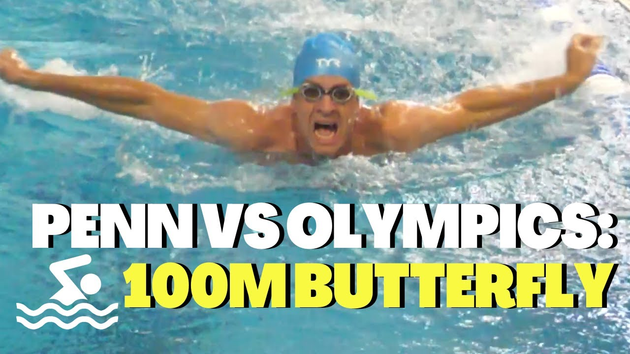 Penn vs Olympics: 100m Butterfly feat. Claire Curzan 🏊