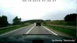 Машина сбила собаку(На Рогачёвском шоссе в районе деревни Клусово Форд Фокус начав обгон с нарушением правил дорожного движени..., 2010-09-17T09:16:05.000Z)