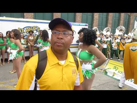 Kentucky State Marching Band Blowing Drowning At Texas Southern (2018) Mardi Gras Parade