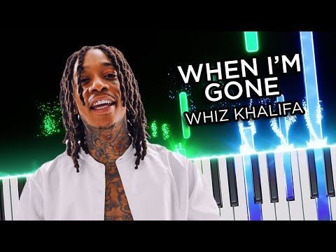 Wiz Khalifa - When I'm gone | Piano tutorial (intro)