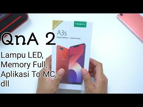 QnA 2 | Oppo A3s . . Full Memori , Lampu LED, Aplikasi To MC Dll