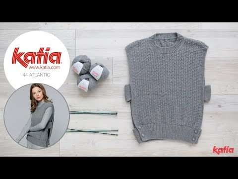 9724e9d1378 How to Knit a Women Sleeveless Sweater - YouTube