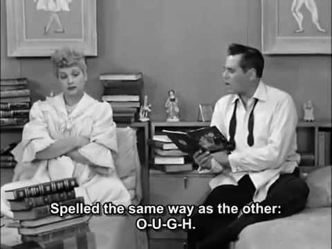 I love Lucy  english Pronunciation