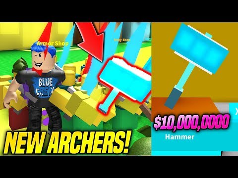 I BOUGHT THE MOST EXPENSIVE HAMMER AND ARCHERS IN ARMY CONTROL SIMULATOR UPDATE!! (Roblox)