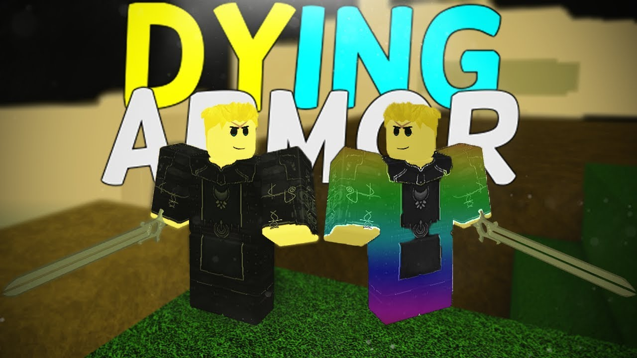 Dying My Armor In Rogue Lineage Roblox Rogue Lineage Changing