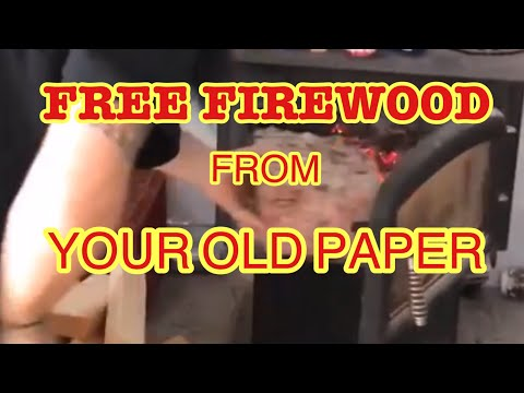 How To Make A Paper Fire Log - EZ DIY Project