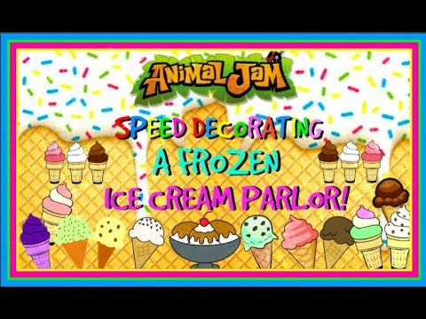 Download Animal Jam: Speed Decorating A Frozen Ice Cream Parlor!