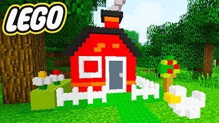 BUILDING THE MOST EPIC LEGO HOUSE EVER! - MINECRAFT LEGO MOD