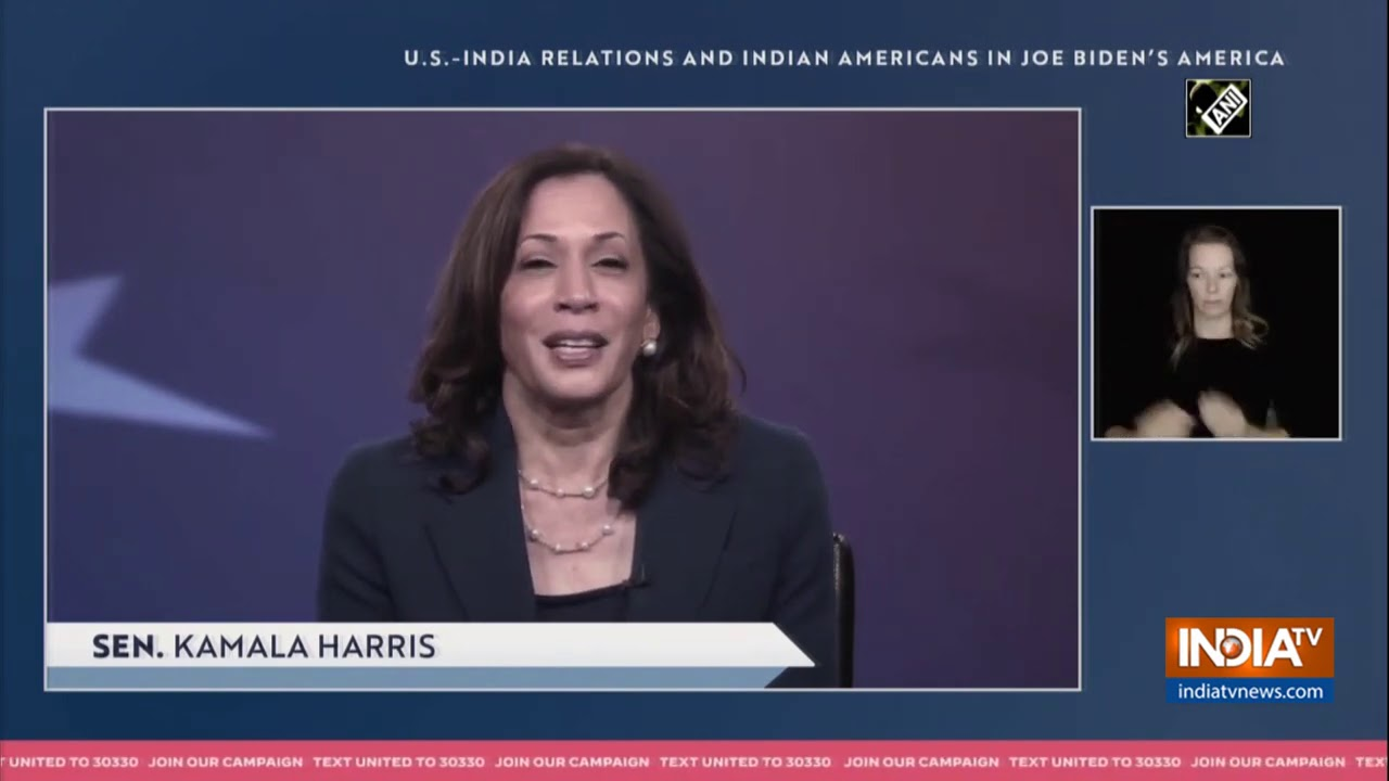 Kamala Harris shares story about her Indian mother`s journey to US