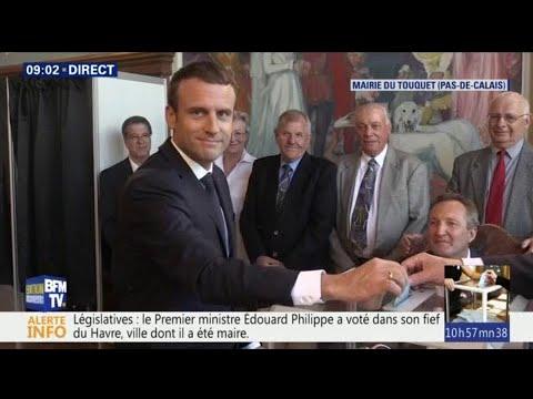 VIDÉO - Emmanuel Macron a voté au Touquet