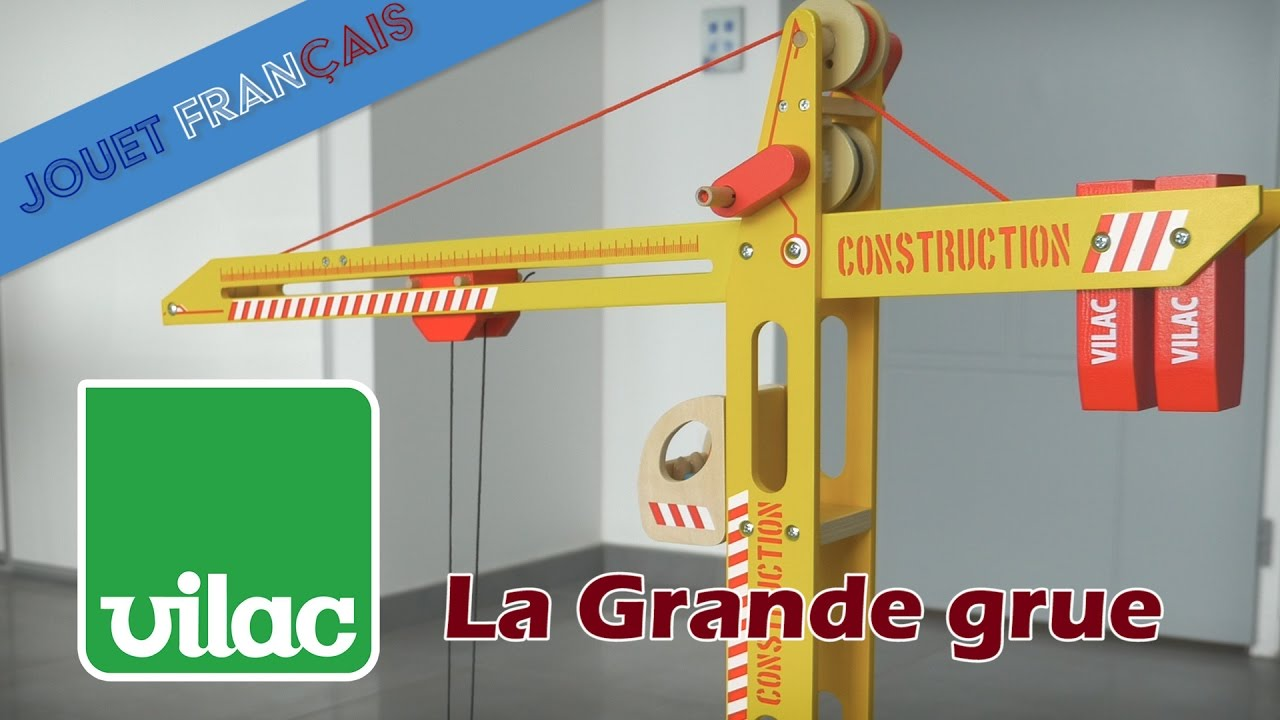 vilac la grande grue d monstration en fran ais youtube. Black Bedroom Furniture Sets. Home Design Ideas