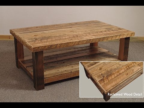 Rustic wood coffee table rustic wood and metal coffee table youtube Rustic wood and metal coffee table