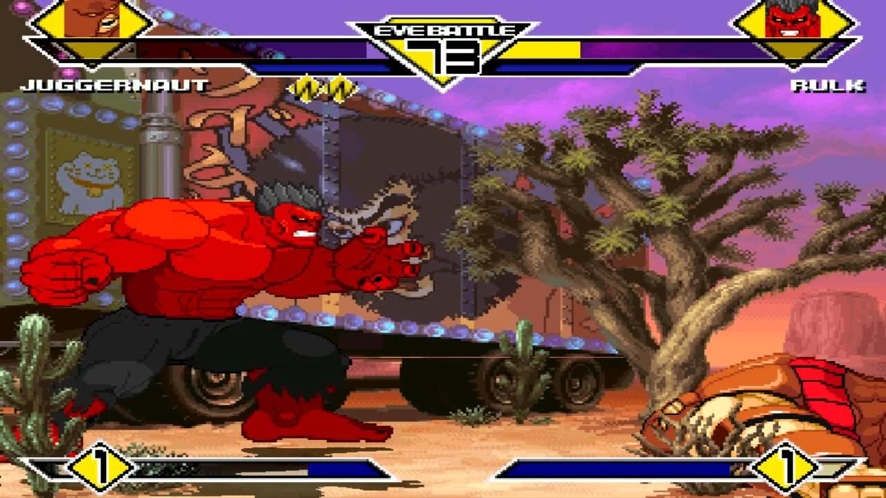 Red Hulk Vs Trion Juggernaut: MUGEN-Juggernaut Vs Red Hulk