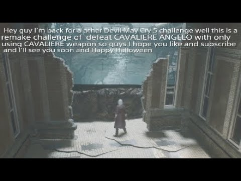 Devil May Cry5 DeluxeEdition challengegameplaypart9:DefeatCAVALIERE ANGELO withonly CAVALIERE remake |