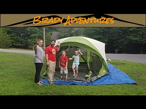 Coleman Evanston 6 Screened Porch Tent Setup and Teardown & Coleman Evanston 6 Screened Porch Tent Setup and Teardown - YouTube