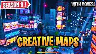 Best Fortnite Season 9 Creative Maps *FUTURE* WITH CODES!