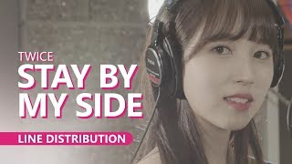 Cover images TWICE - STAY BY MY SIDE | Line Distribution