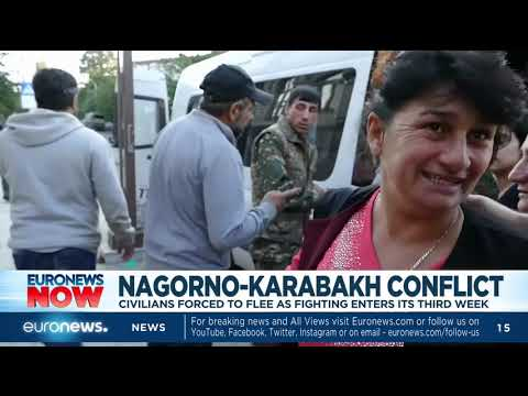 Nagorno-Karabakh Conflict: Civilians Forced To Flee As Fighting Enters Its 3rd Week