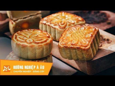 2 cách làm bánh Trung thu nướng nhân hạt sen - nhân sữa dừa | Học làm bánh Trung Thu