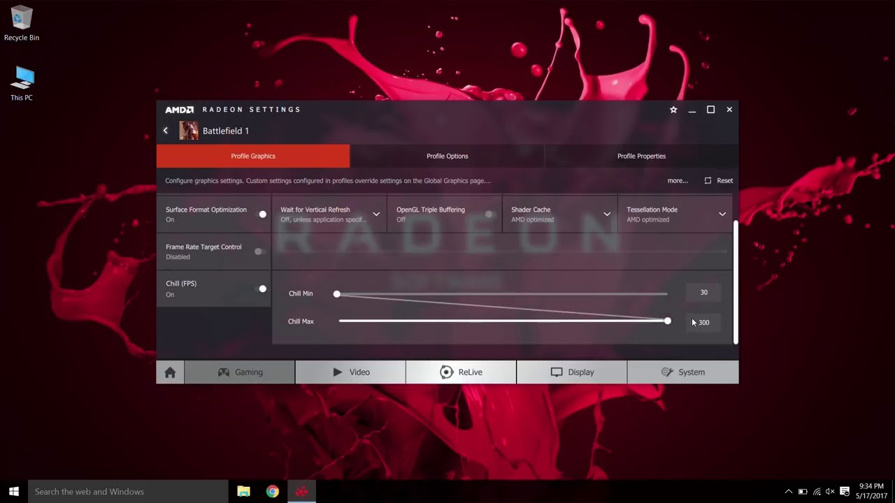 Radeon™ Software How To Use Radeon™ Chill
