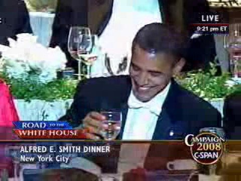McCain Roasts Obama At Alfred E. Smith Dinner