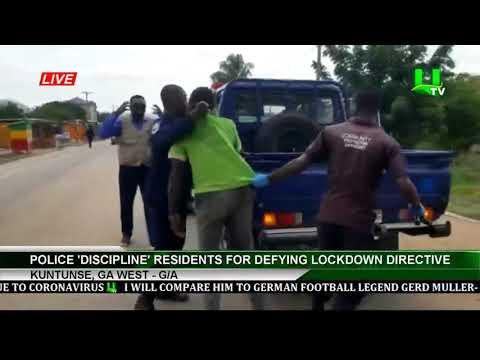 Police 'Discipline' Residents For Defying Lockdown Directive | UTV Ghana Online