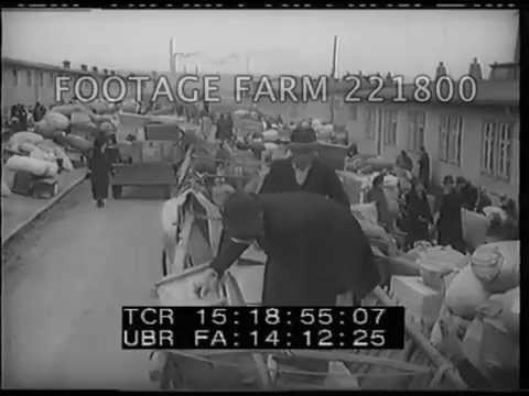 1946, Czechoslovakia:  German Removal From Sudetenland; Transit Camp 221800-08 | Footage Farm