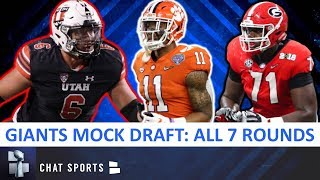 New York Giants Draft: 7-Round 2020 NFL Mock Draft Ft. Isaiah Simmons, Andrew Thomas & Bradlee Anae