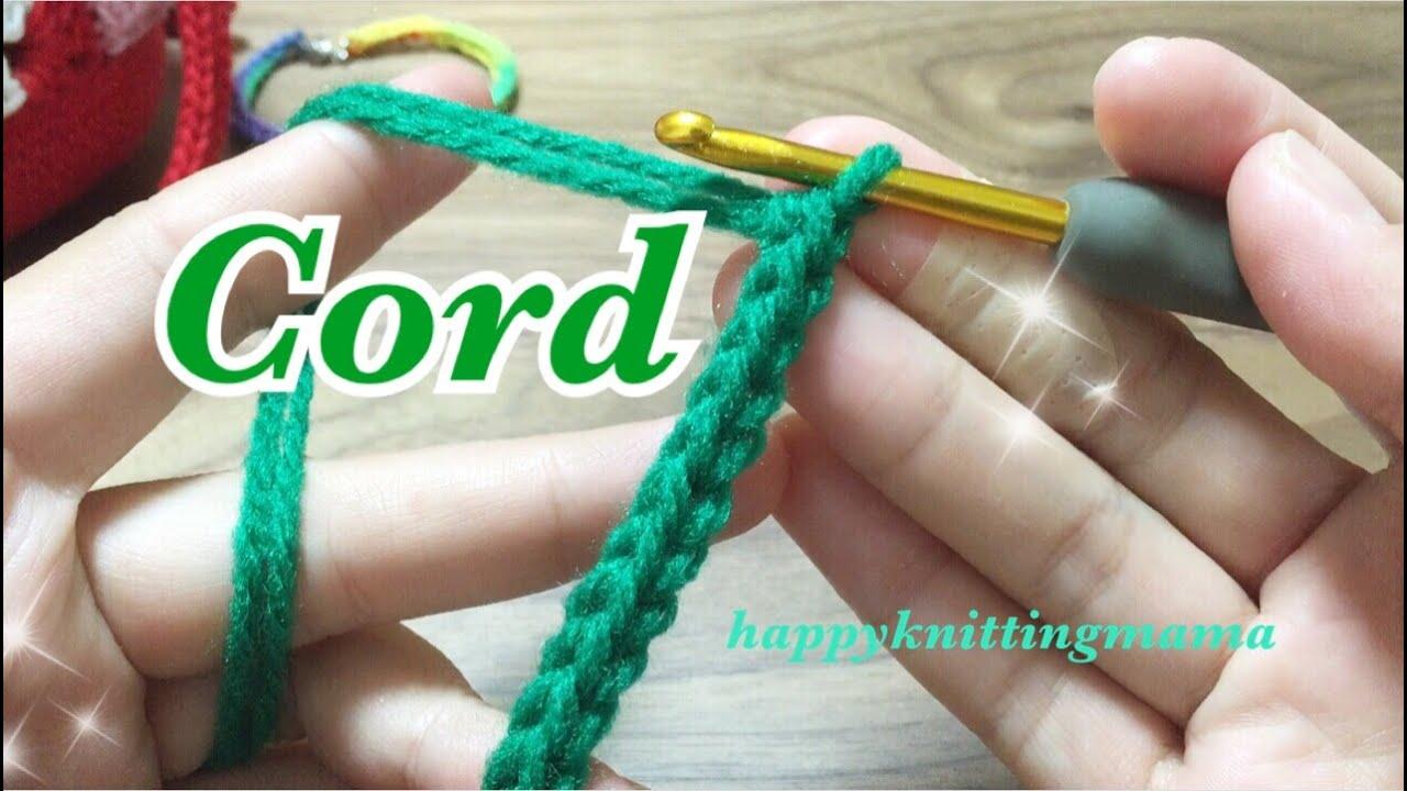スレッドコードの編み方【かぎ針編み】毛糸で便利な紐作り☆crochet cord , YouTube