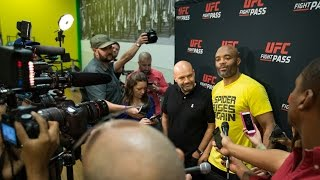 UFC Fight Night 84: Anderson Silva Media Scrum