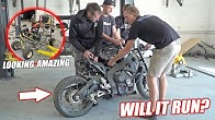 Build Wars DAY 2: Buying a WRECKED 1000cc Street Bike for Our Golf Cart Build!! (SHE'S A RIPPER)
