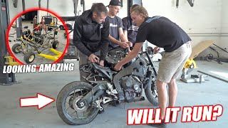 Build Wars DAY 2: Buying a WRECKED 1000cc Street Bike for Our Golf Cart Build!! (SHE