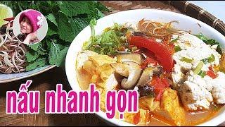 Bún riêu chay - Bí quyết nấu BÚN RIÊU CHAY ở Chùa từ SỮA ĐẬU NÀNH đơn giản mà ngon #CoHaiNhoSaiGon