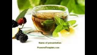 Mulberry Tea PowerPoint Template by PoweredTemplate.com