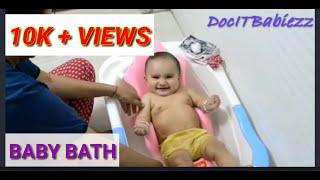 Baby Bath-How to bathe a baby-Luvlap Baby Bathtub