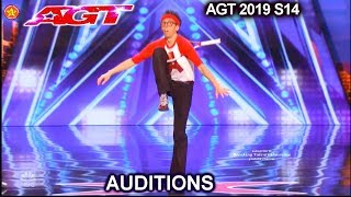 Jonathan Burns Comedy Contortionist FUN-TASTIC!! | America's Got Talent 2019 Audition