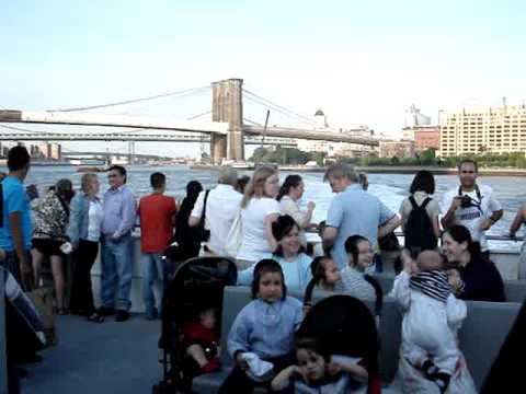Leaving DUMBO on the NY Waterways East River Ferry to Wall Street Pier 11