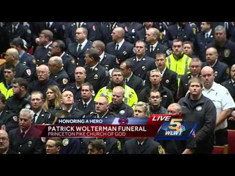 Watch: Firefighter Patrick Wolterman's memorial service