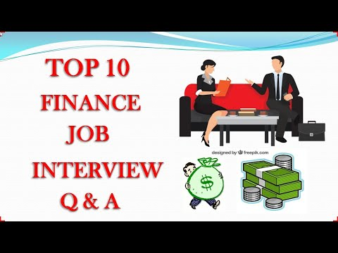 simple finance job interview
