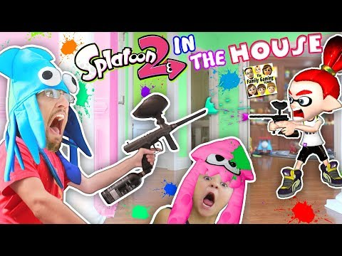 Thumbnail: SPLATOON 2 in the HOUSE! Paintballs EVERYWHERE! (FGTEEV Mom vs. Dad vs. Chase)