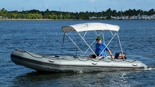 18' Saturn SD518 Inflatable Boat with 25HP motor.