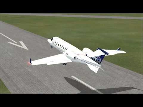 Flight Simulator X: Learjet Take-off