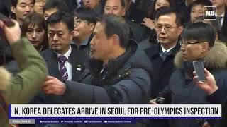 N. Korea delegates arrive in Seoul for pre-Olympics inspection