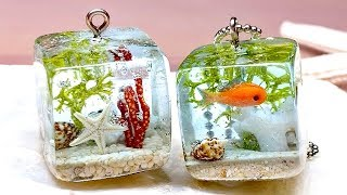 【UV resin】How to make little tropical fish aquarium!【DIY】