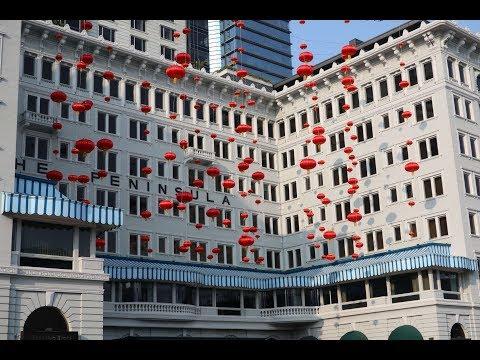 Hong Kong Peninsula Hotel - lucky 2018 Chinese New Year displays